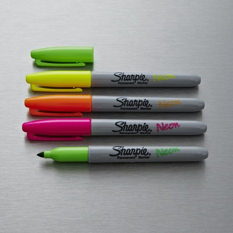 Sharpie Fine Permanent Marker Neon Colours Set of 4 | Cass Art