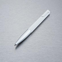 Lamy Noto Ballpoint Pen Silver And White