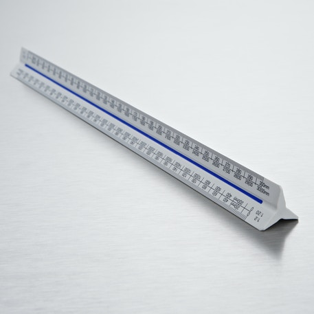 Blundell Harling 300mm Verulam Triangular Metric A Ruler | Cass Art