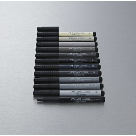 Faber-Castell Pitt Brush Pens set of 12 | Cass Art