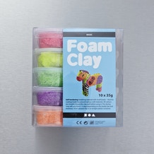 Creativ Foam Clay Assortment Colours 35g Set of 10