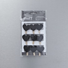 Papermania Heart Chalkboard Pegs Pack of 9