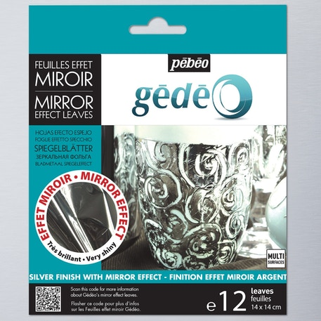 Pebeo Gedeo Mirror Effect Metal Leaf Pack of 12 | Cass Art