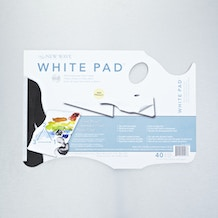 New Wave Handheld Disposable Paper Palette Pad 68 gsm 28 x 40 cm White