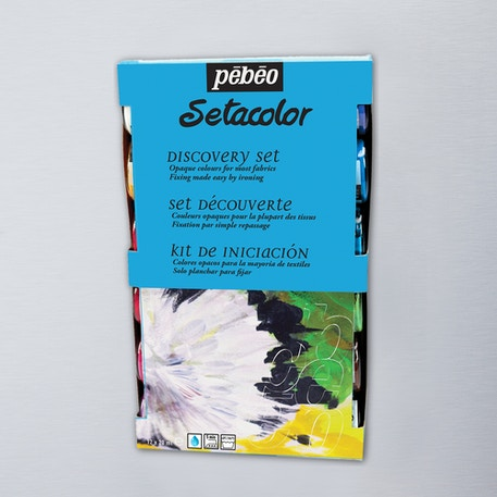 Pebeo Setacolour Fabric Paint Opaque Discovery Set of 12 20ml | Cass Art