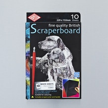 Essdee Scraperboard Painted 10 Sheets