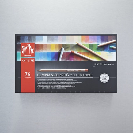 Caran D'ache Luminance 6901 Professional Colour Pencil Set of 76 + 2 Blenders