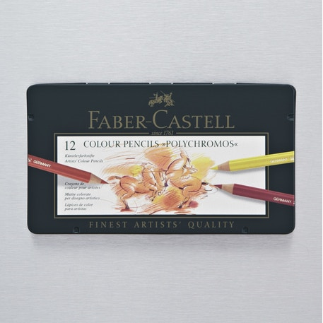 Faber-Castell Polychromos Artist Pencils Tin Set of 12 | Cass Art