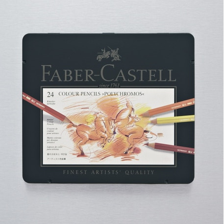 Faber-Castell Polychromos Artist Assorted Tin Set of 24 | Cass Art