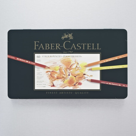 Faber-Castell Polychromos Artist Assorted Tin Set of 60 | Cass Art