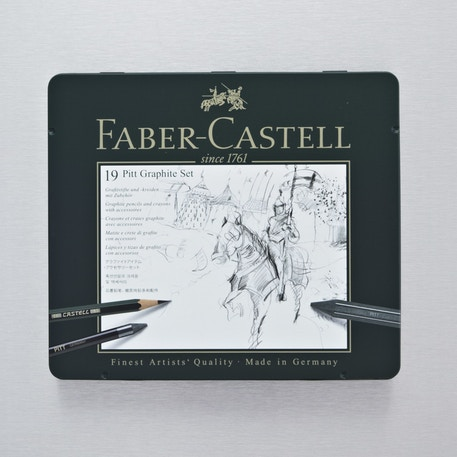 Faber-Castell Pitt Monochrome Graphite Set Medium | Cass Art