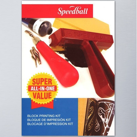 Speedball Super Value Block Printing Starter Kit | Professional Lino Printing | Cass Art