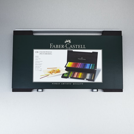 Faber-Castell Polychromos Wooden Case Pencil Set of 120 | Cass Art