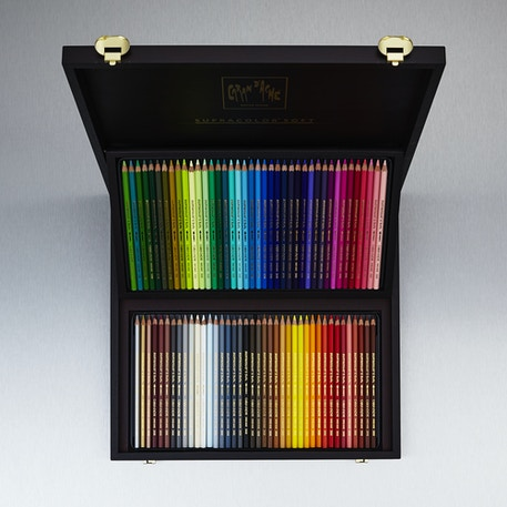 Caran D'ache Supracolor Watersoluble Coloured Pencil Wooden Box Set of 80 | Cass Art