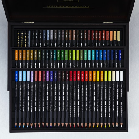 Caran D'ache Museum Aquarelle Watersoluble Colour Pencils Set of 76 | Cass Art