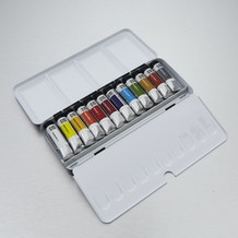Cass Art Artists' Watercolour Metal Tin 10ml Set of 12