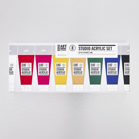 Cass Art Acrylic Assorted Colours Paint 75ml - Set of 8 | Cass Art