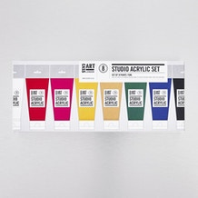 Cass Art Acrylic Assorted Colours Paint 75ml - Set of 8