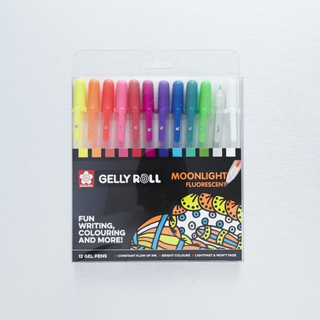 Sakura Gelly Roll Moonlight Fluorescent Set of 12 | Cass Art