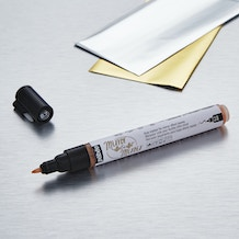 Pebeo Mirror Effect Pen Kit and Silver & Gold Foil