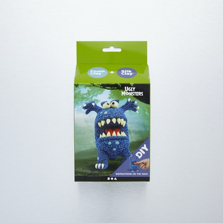 Creativ Foam Clay & Silk Clay Ugly Monsters Blue DIY Kit | Cass Art
