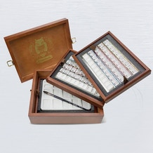 Schmincke Watercolour 80 Small Pans Wooden Set