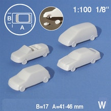 Schulcz Cars Scale Models 1:100 Pack of 4