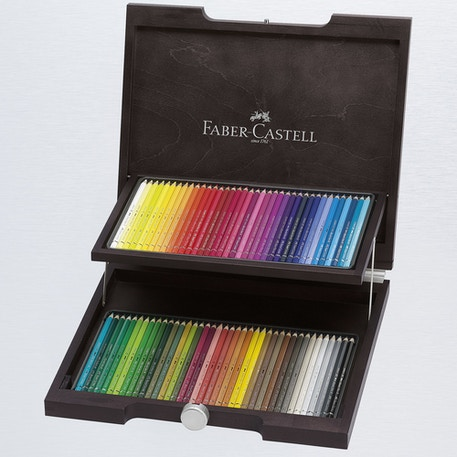 Faber Castell Albrecht Durer Artists' Watercolour Pencils Wooden Case Set of 72 | Cass Art