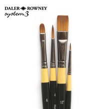Daler Rowney System 3 Acrylic Brush Wallet 400 - Set of 4