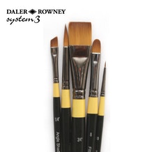 Daler Rowney System 3 Acrylic Brush Wallet 500 - Set of 5
