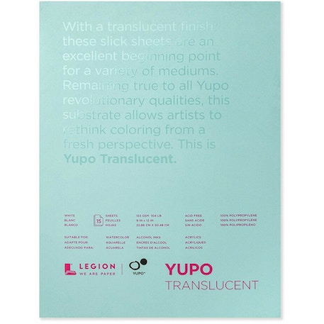 Legion Yupo Translucent Watercolour Paper Pad | Cass Art