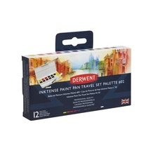 Derwent Inktense Paint Pan Travel Set of 12 Palette #02