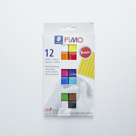 Staedtler Fimo Soft Starter Pack Half Block Set of 12 x 25g | Cass Art