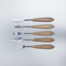 Jakar Stainless Steel Wooden Handle Palette Knives Set of 5