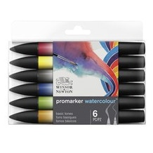 Winsor & Newton Promarker Watercolour Assorted Colours Set of 6