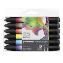 Winsor & Newton Promarker Watercolour Assorted Colours Set of 12