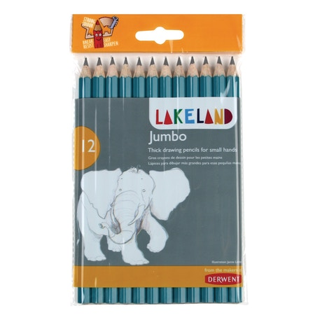 Derwent Lakeland Jumbo Graphite Pencil Set of 12 | Cass Art