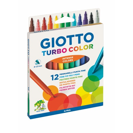 Giotto Turbo Colour Markers Assorted Colours Set of 12
