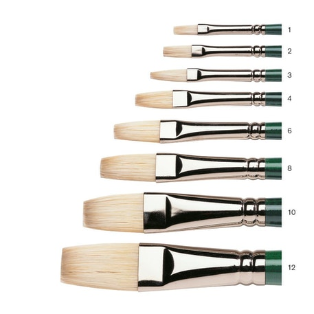 Winsor & Newton Winton Long Handle Long Flat Brush | Cass Art