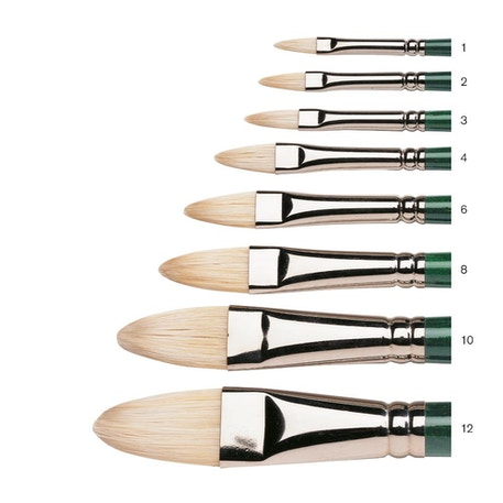 Winsor & Newton Winton Long Handle Filbert Brush | Cass Art