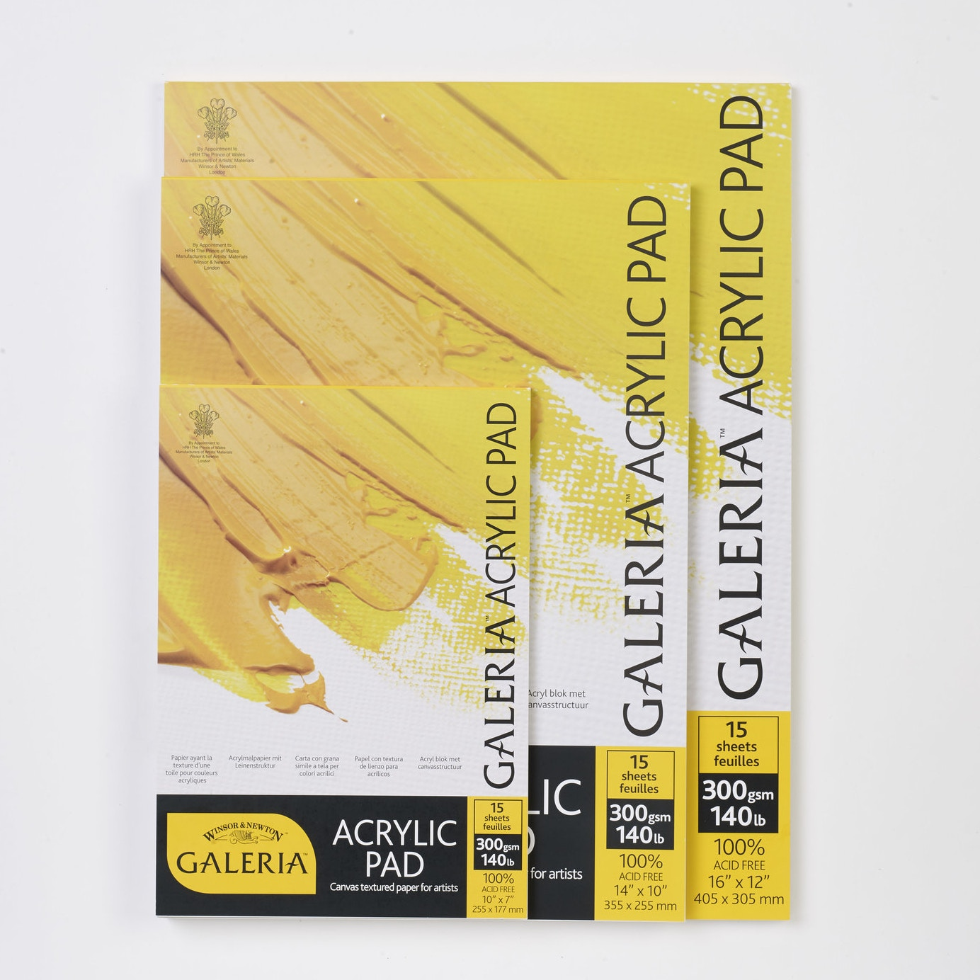 3 Pack 10 x 12 White Canvas Pad Product Catalog: Paper Media, Canvas /& Surfaces
