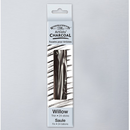 Winsor & Newton Willow Charcoal Thin Sticks Set of 24 | Cass Art