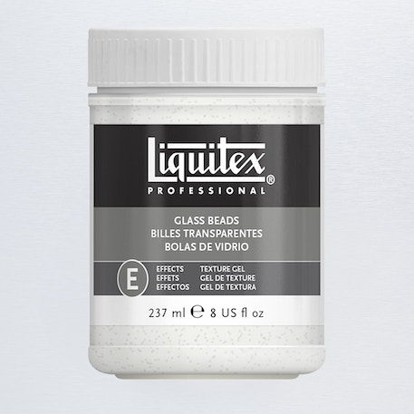 Liquitex Texture Gel Medium 237ml Glass Beads | Cass Art