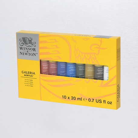Winsor & Newton Galeria Tube 20ml Set of 10 | Acrylic Paints | Cass Art