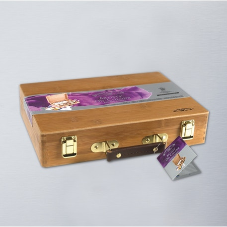 Winsor & Newton Artists' Oil Colour Bamboo Wooden Box | Professional Oil Paint | Cass Art
