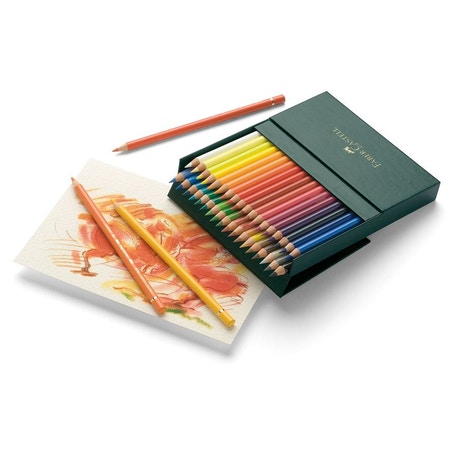 Faber-Castell Polychromos Artist Pencils Gift Box Set of 36 | Cass Art