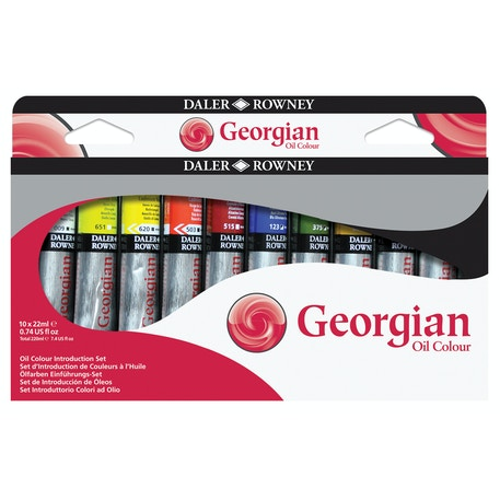 Daler Rowney Georgian Oil Introduction 22ml Set of 10 | Cass Art