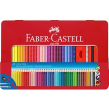 Faber Castell Grip Colour Pencil Tin Assorted Colours Set of 48