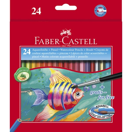 Faber Castell Watercolour Pencil Assorted Colours Set of 24 |