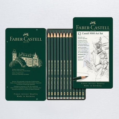 Faber-Castell 9000 Pencil Art Set of 12 | Cass Art